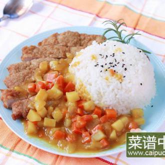 黄金猪排咖喱饭