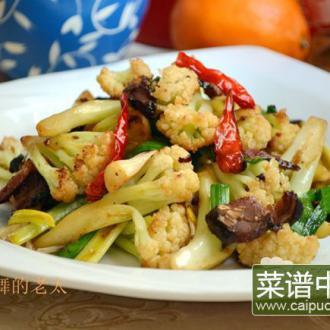 腊肉干锅花菜