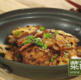 干锅香腊脆藕