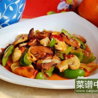 腊味干锅蘑菇
