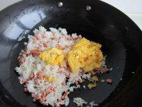 木瓜火腿蛋炒饭的做法步骤8