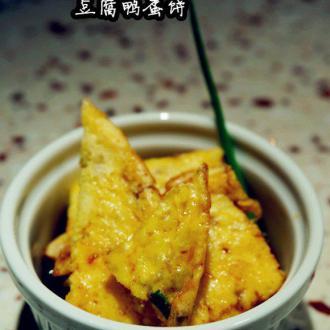 豆腐鸭蛋煎饼