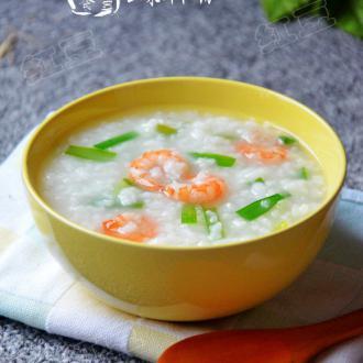 韭菜虾仁粥