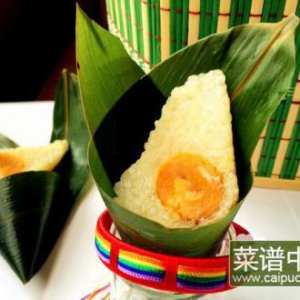 白米蛋黄粽
