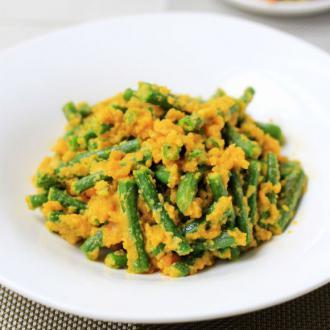 咸蛋黄焗豇豆