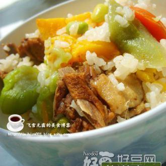鸭肉南瓜饭(电饭锅)