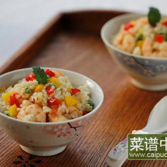 彩椒虾仁炒饭