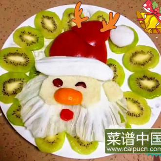 圣诞老人水果拼盘
