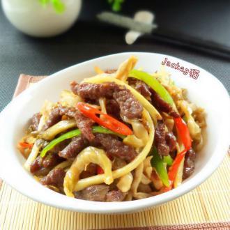 仔姜榨菜炒牛肉