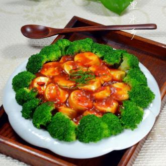 西兰花日本豆腐