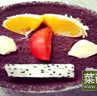 酸奶水果沙拉盆栽