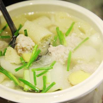 竹荪冬瓜肉丸汤