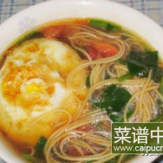鸡蛋挂面汤