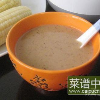 红枣核桃鲜玉米糊