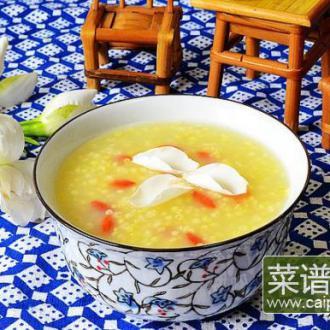 栀子花枸杞小米粥