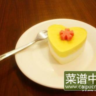 芒果牛奶芝士冻糕
