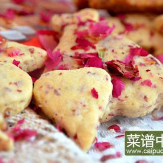 玫瑰心形饼干
