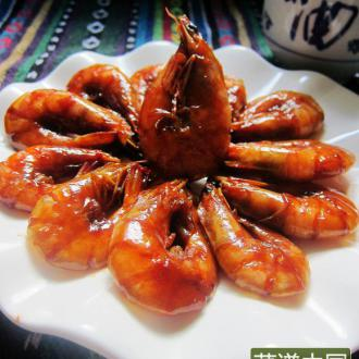 蚝汁煨大虾