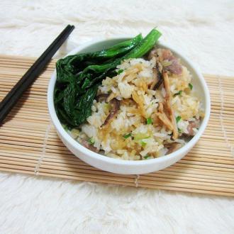 香菇干贝肉片焗饭