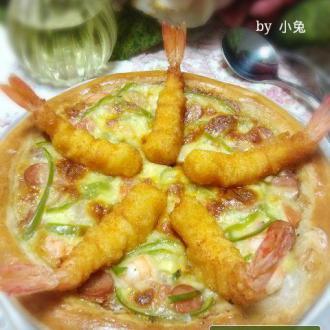 天妇罗鲜虾披萨