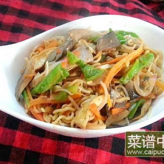 芝麻酱炒蔬菜面