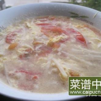 西红柿金针菇蛋汤