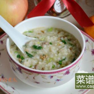 鸡肝菜末粥