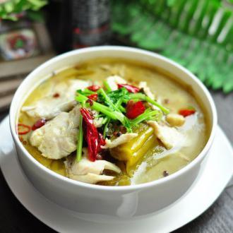酸菜鱼炖豆腐