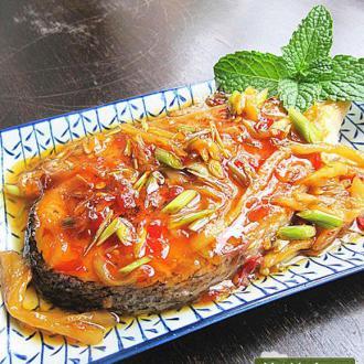 紫姜香茅三文鱼