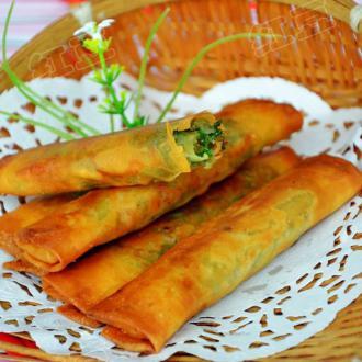韭菜素春卷