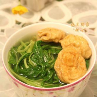 空心菜油面筋汤