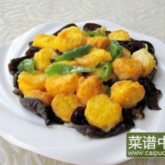日本豆腐烧青椒木耳