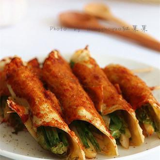 香烤豆皮蔬菜串