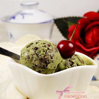 抹茶蜜豆冰淇淋