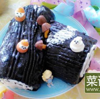 圣诞树根蛋糕