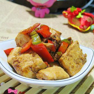 蚝油嫩豆腐