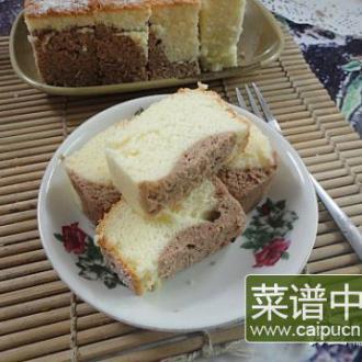 电饭锅双色戚风蛋糕