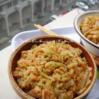 腐乳肉末蒸白菜