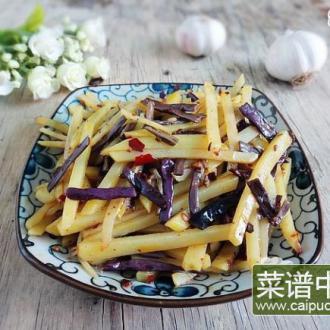 香辣蕨菜炒土豆丝