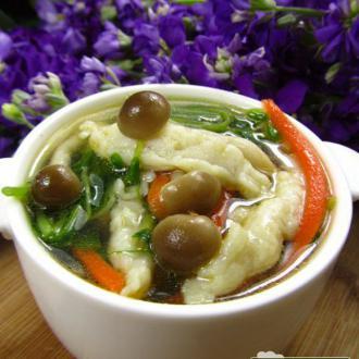 五彩鱼丝汤
