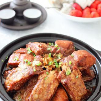 梅干菜蒸排骨