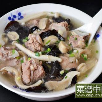 杂菌排骨汤
