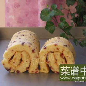 酸奶蔓越莓蛋糕卷