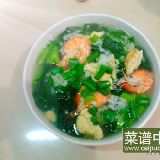 翡翠鲜虾泡饭
