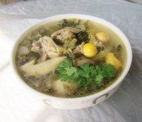 鸡杂酸菜汤的做法步骤8