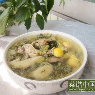 鸡杂酸菜汤