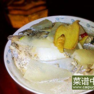 雅片鱼头炖冬瓜