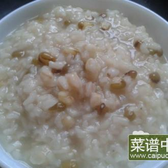 小麦绿豆粥
