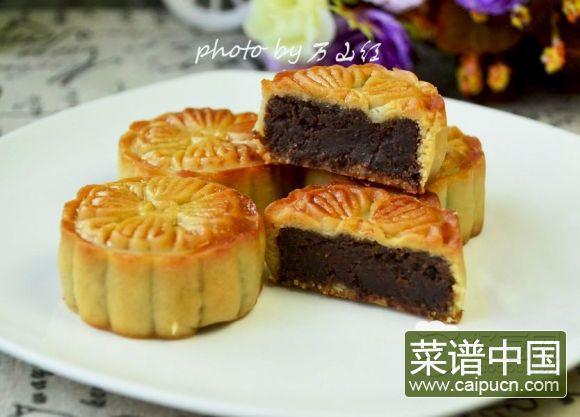 桂花红豆蓉月饼