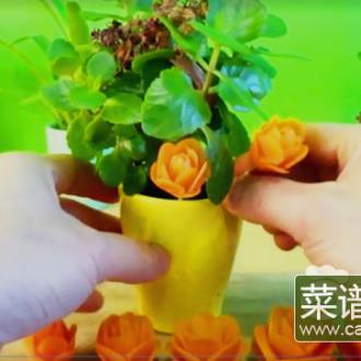 超美的萝卜插花